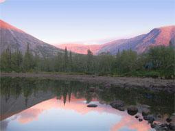 Рассвет в Хибинской тундре